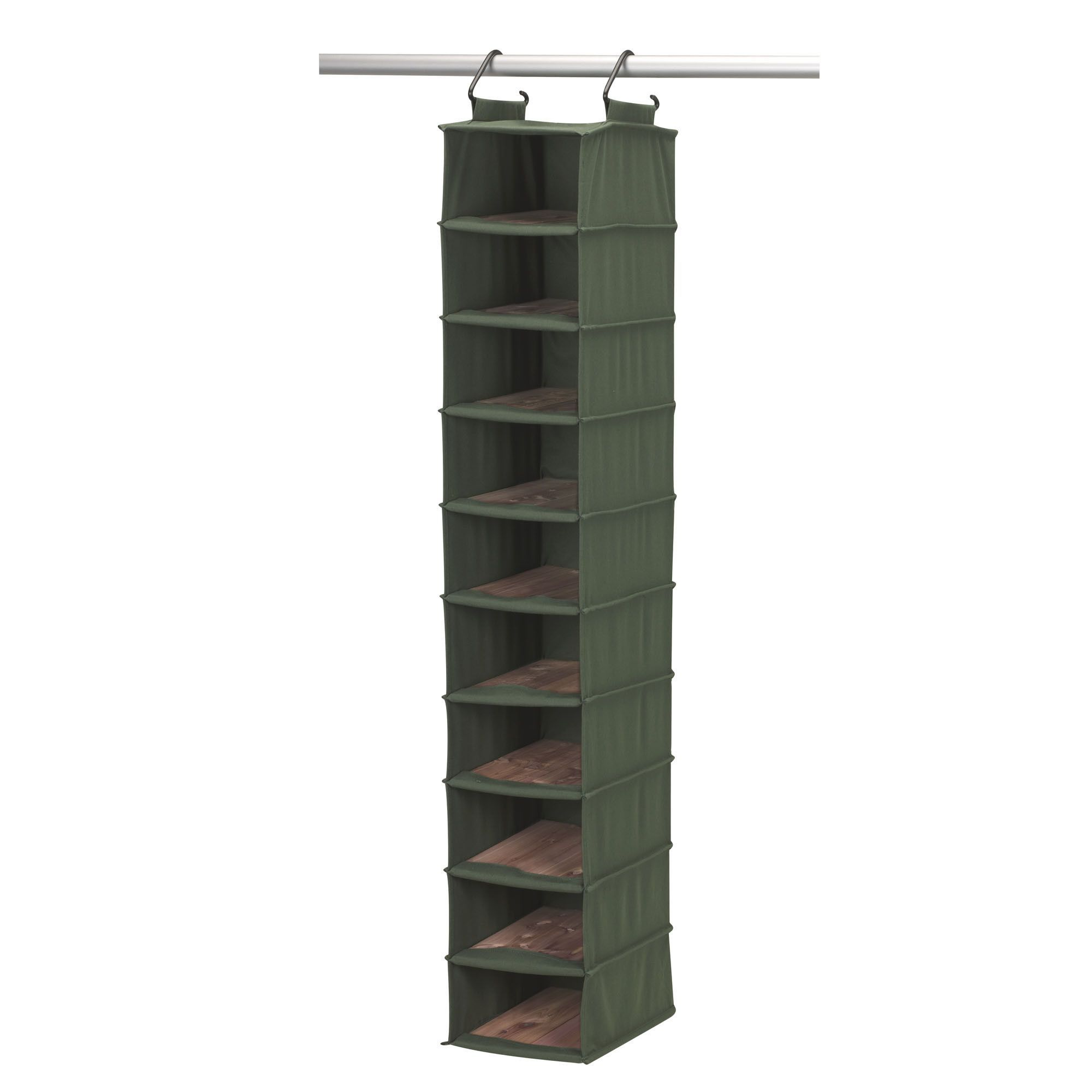 Cedarstow shelf hanging shoe organizer forest green products