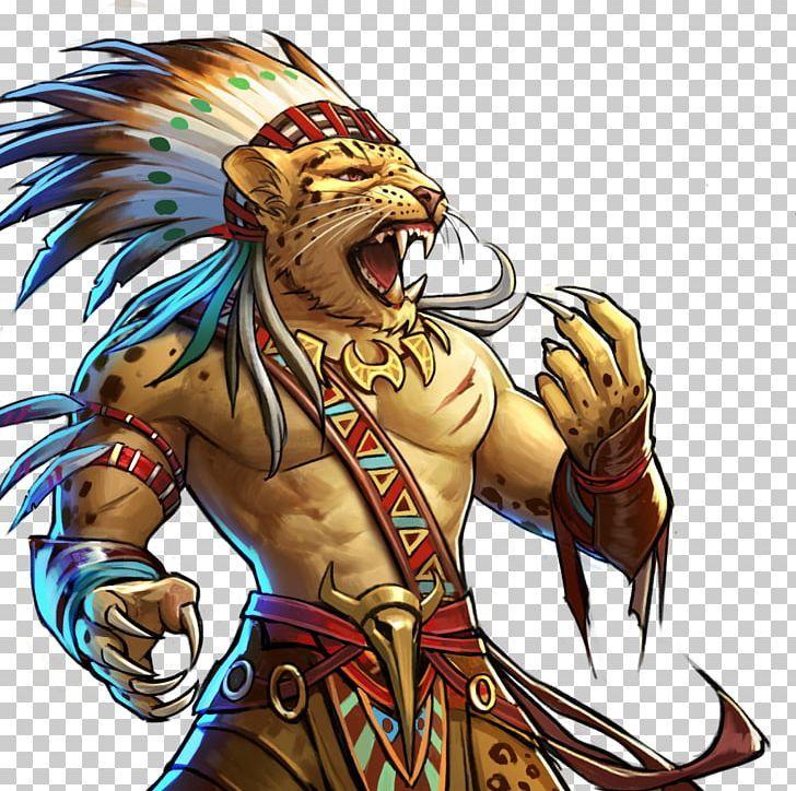 Gems of war jaguar warrior tribe png animals anime art
