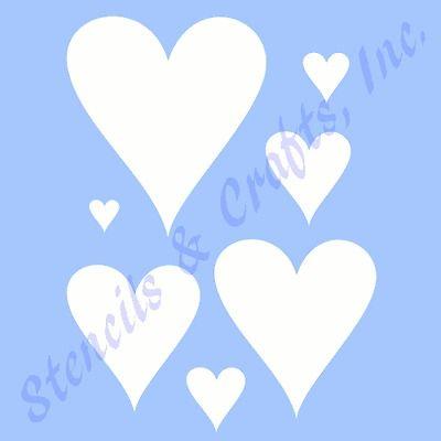 "9/"" BIG HEART STENCIL HEARTS CRAFT TEMPLATE PAINT PATTERN VALENTINES ART NEW"