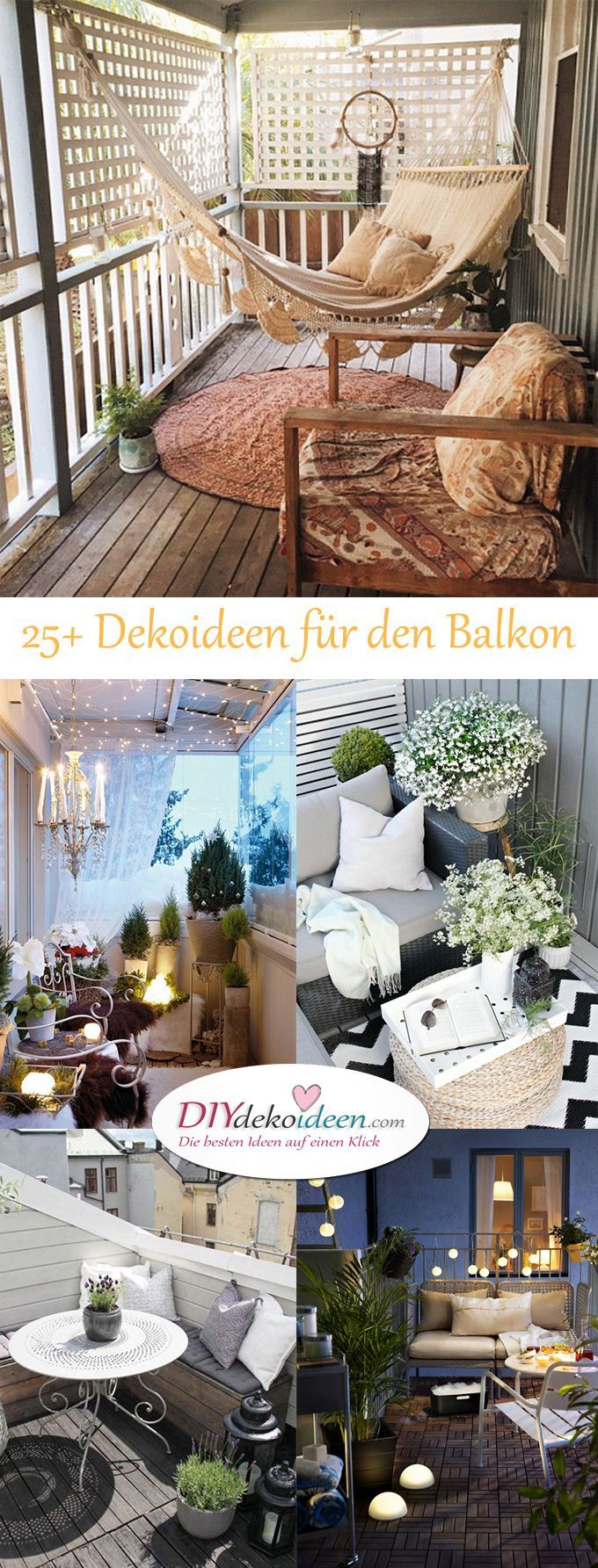 so l sst sich dein balkon dekorieren tolle diy dekoideen f r dein zuhause garten pinterest. Black Bedroom Furniture Sets. Home Design Ideas