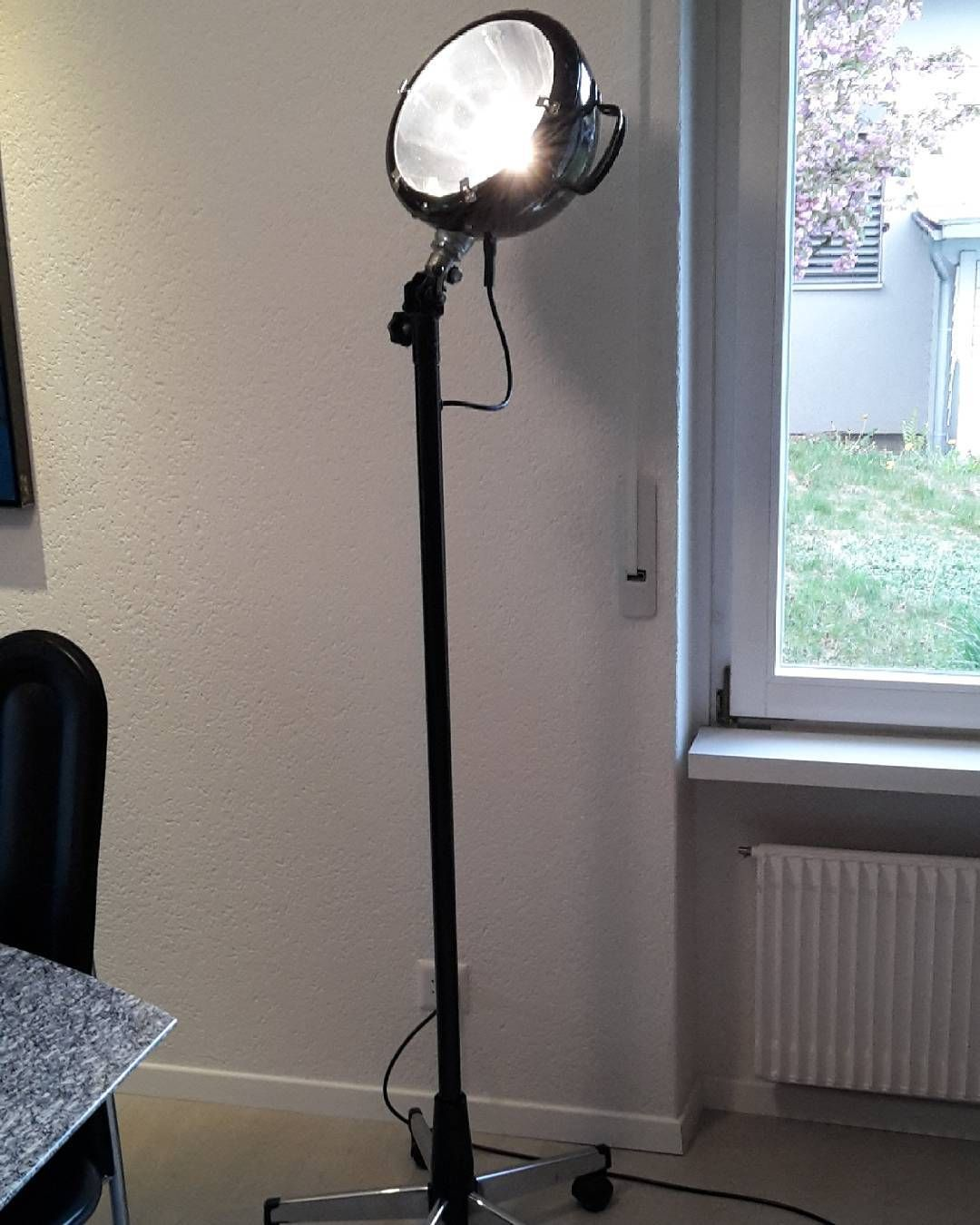 new upcycling lamp repurposed fire fighter search lamp and desk chair selfmade
