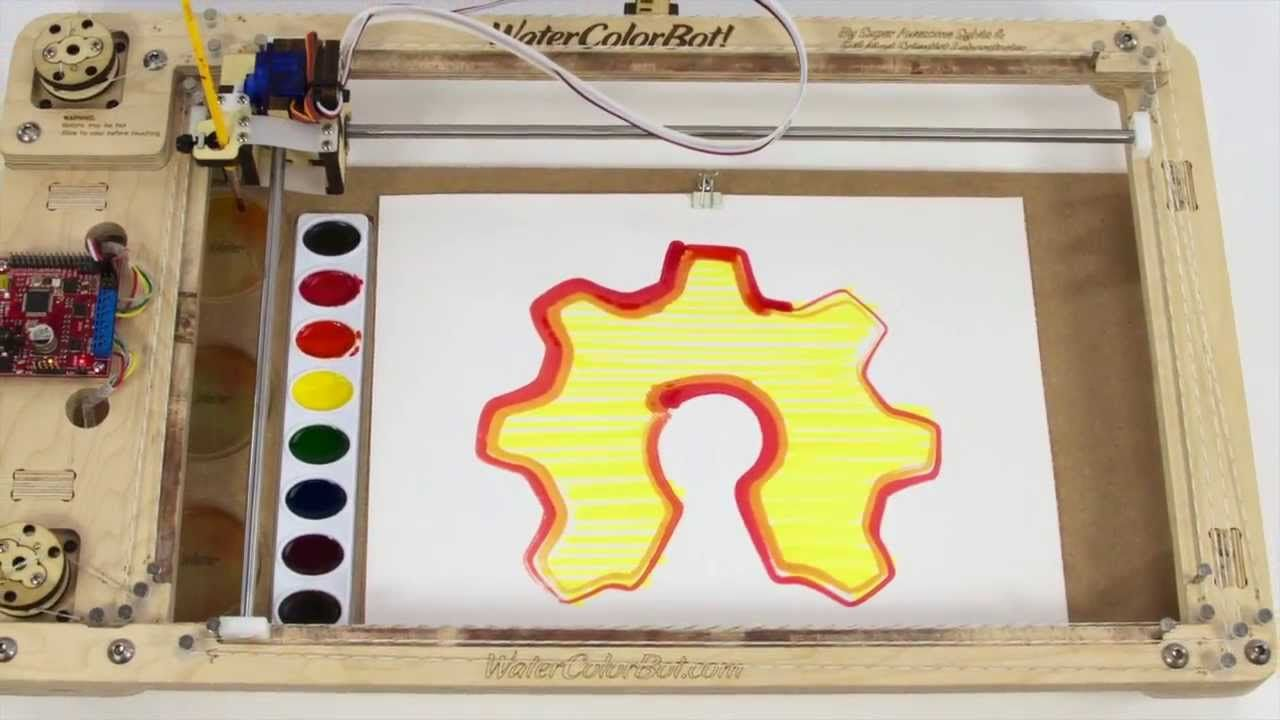 The Watercolorbot Kickstarter Launch Video Negocios