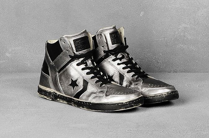 4e4201c33563 ... closeout metallic converse x john varvatos weapon high top 4f681 e5326