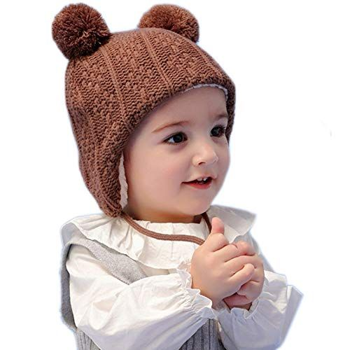 c3bd9f01f25aca Aablexema Baby Toddler Winter Earflap Beanie Hat, Cute and Warm Kids Hat  Fleece Lining