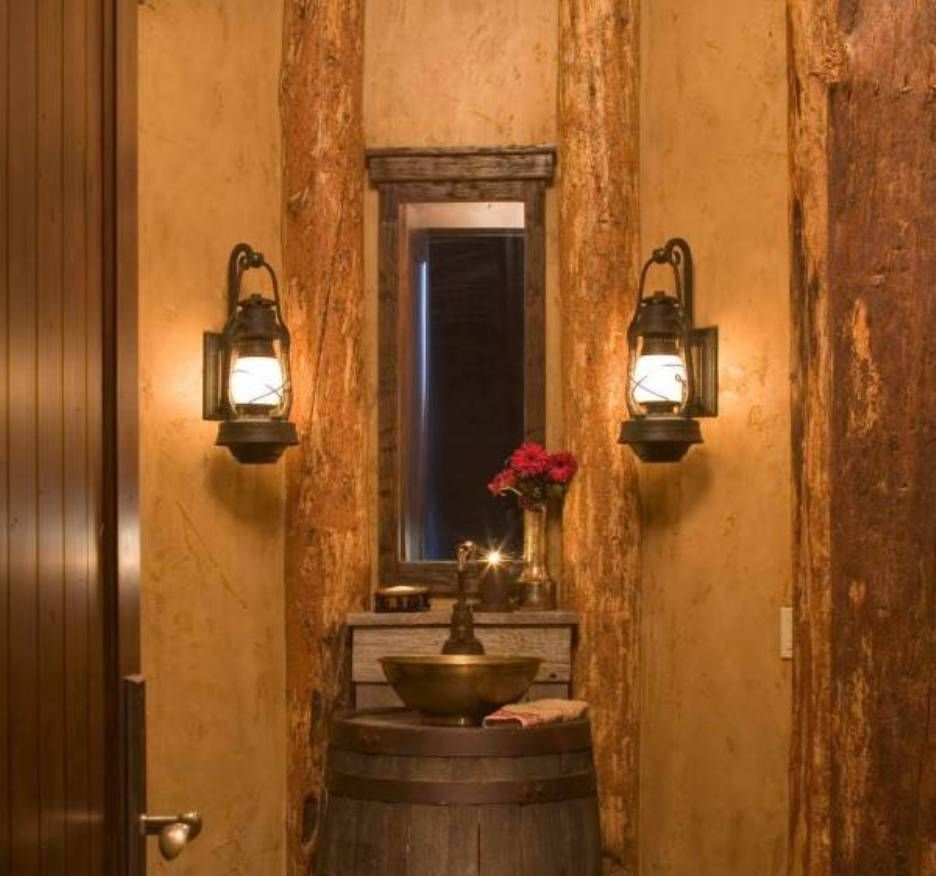 Unique bathroom ideas with black wall sconce rustic vanity lights gold single bowl vessel sink style and black oil rubbed bronze single handle faucet