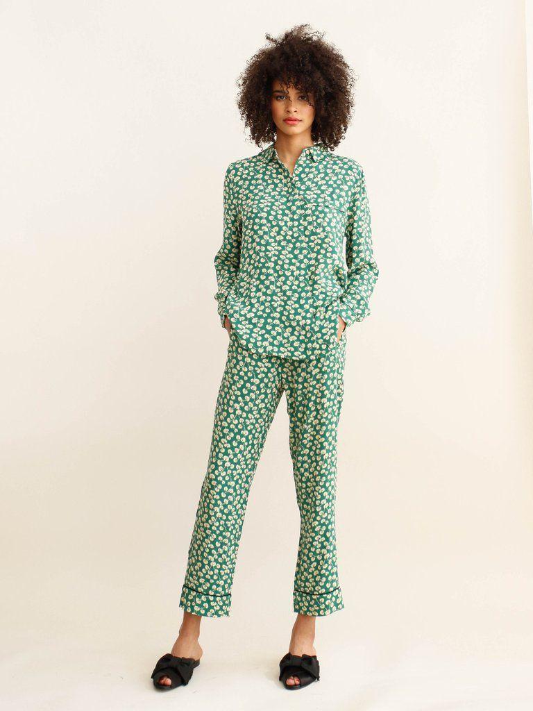 9edf80f57fae GANNI - DALTON CREPE PANT - VERDANT GREEN   Comfy & Chic   Kläder ...