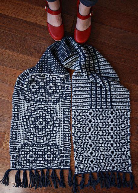 Ravelry: jadeblade\'s VK mosaic scarf | Stricken - Schals und Tücher ...