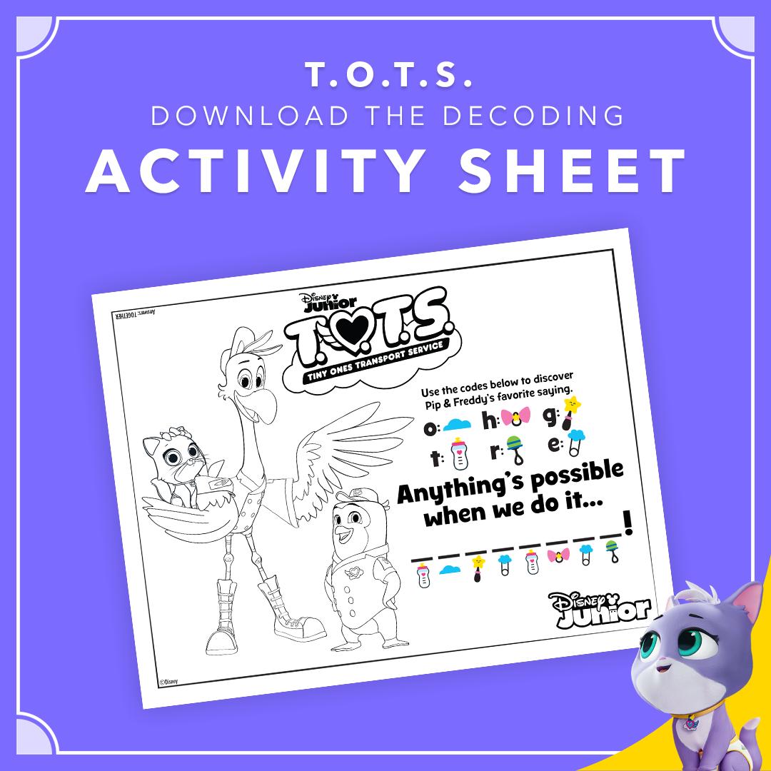 Decode With T O T S Disney Activities Disney Junior Decoding Activities [ 1080 x 1080 Pixel ]