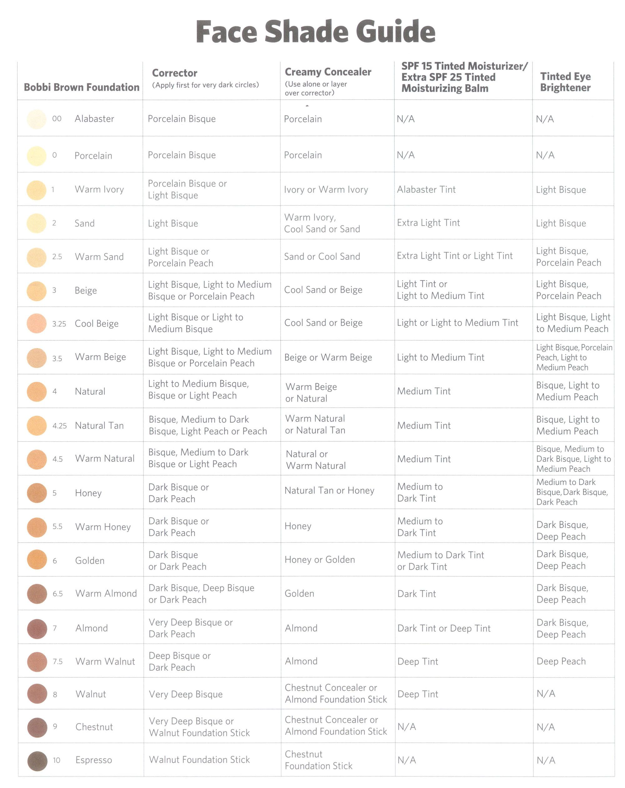 Bobbi Brown Face Shade Guide - Even Though Its Usually Too -4368