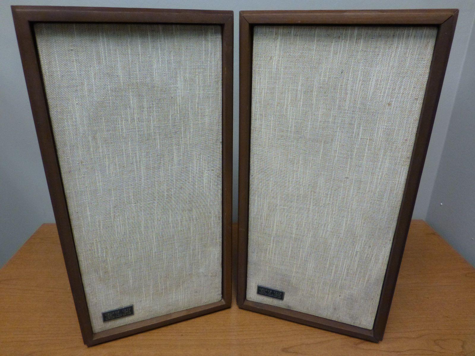 vintage klipsch bookshelf speakers. klh model 17 vintage bookshelf speaker (walnut pair) tested/works great klipsch speakers k