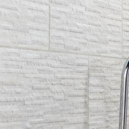 wickes mayfield grey splitface ceramic wall tile 298 x 498mm