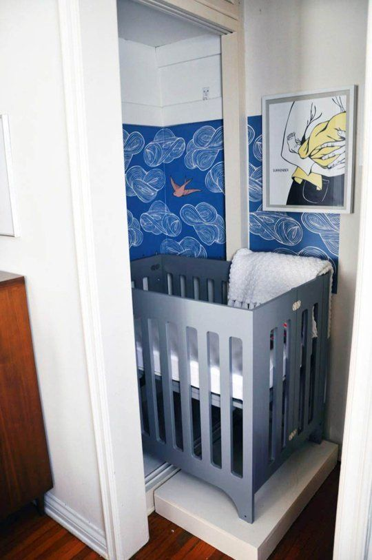 Small space style baby bristow 39 s closet nursery small for Master bedroom with attached nursery