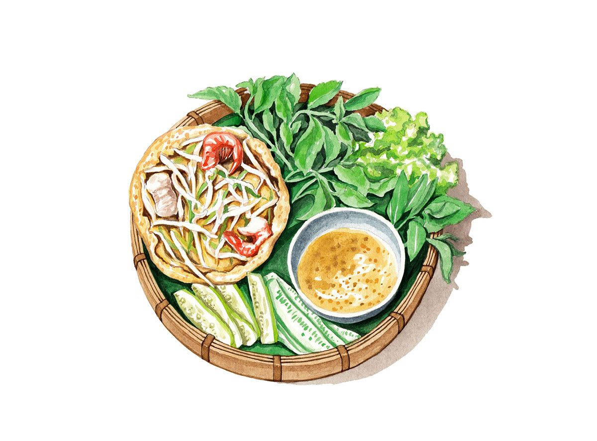 Vietnamese food illustrations food illustration recipe book vietnamese food illustrations forumfinder Choice Image