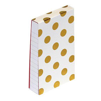 Kate Spade Gold Dots Small Notepad KSP136534 Kate Spade Office Supplies,  Stylish Notepad,