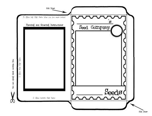 Seed packet template who came to camp pinterest for Blank seed packet template