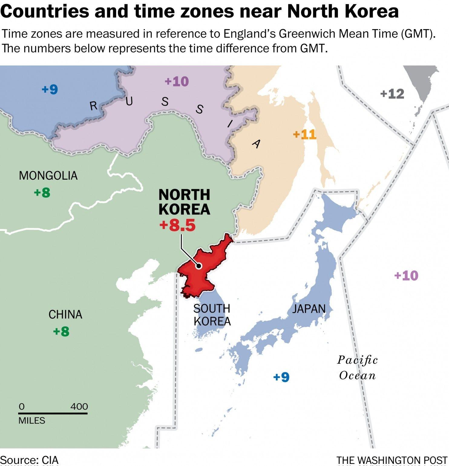 North Koreas New Time Zone Is Perfectly Bizarre Time Zones - Timezone cincinnati