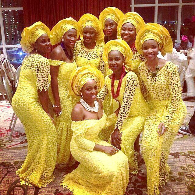 My Nigerian Wedding: Presents 'Rise Of The Monotone Aso-ebi'- Check Out 60