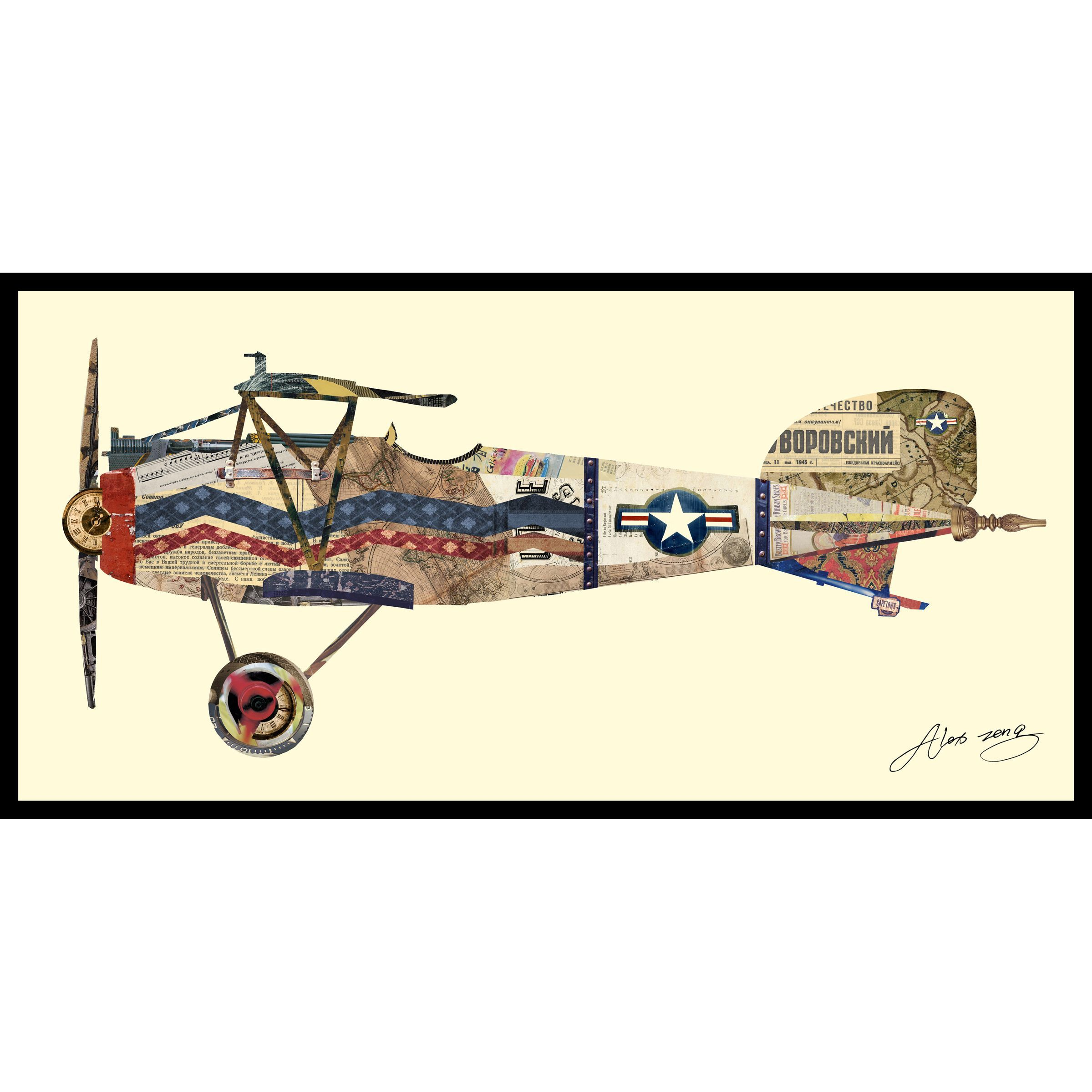 Empire Art Alex Zeng Antique Biplane #3 Collage   Products   Pinterest