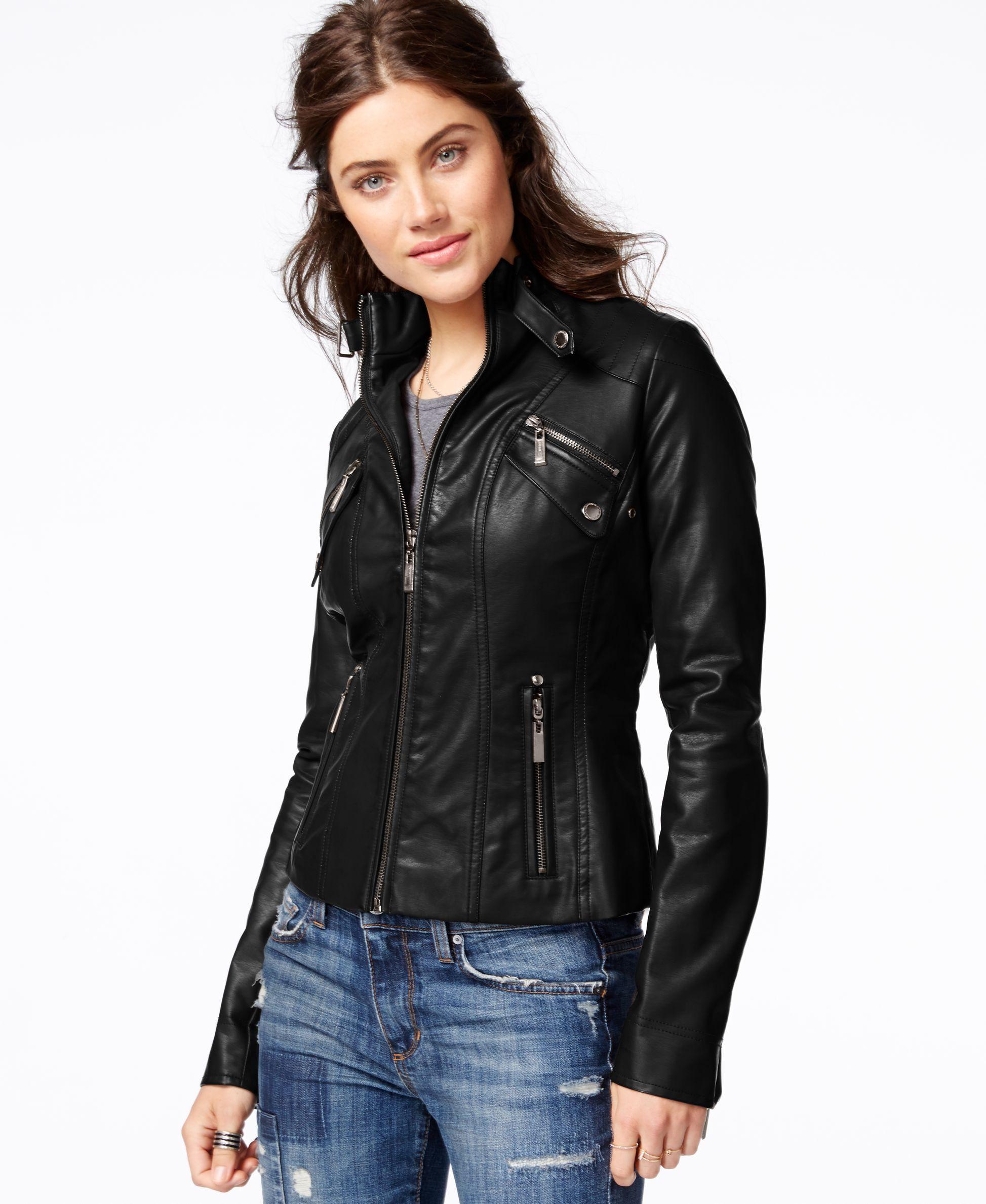 70 Jou Jou's faux leather moto jacket takes your