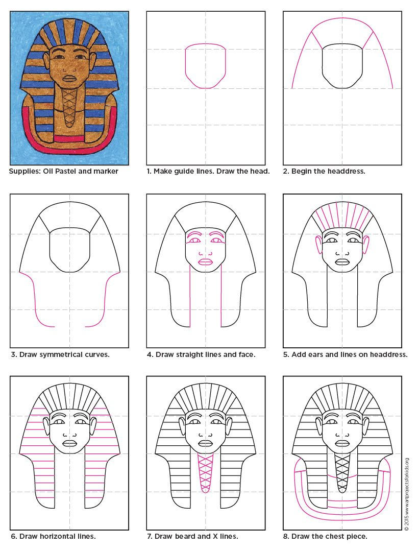 Photo of How To Draw King Tut · Art Projects for Kids