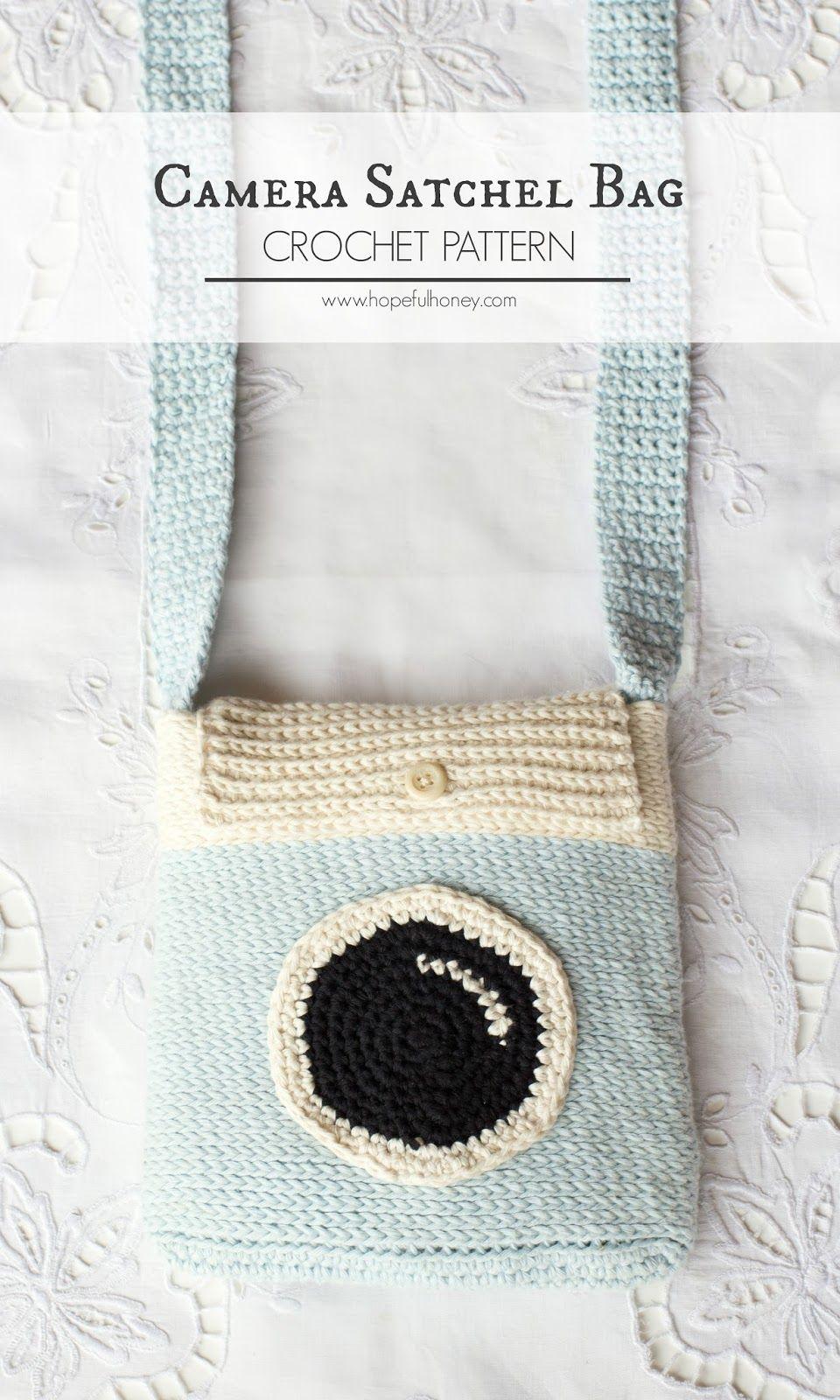 Camera Satchel Bag - Free Crochet Pattern | Monederos, Tejido y Varios