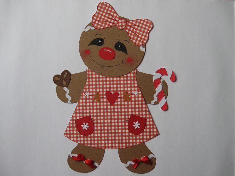 Fensterschmuck fensterbild s e lebkuchenfrau ginger weihnachten ein designerst ck von - Fensterschmuck weihnachten basteln ...