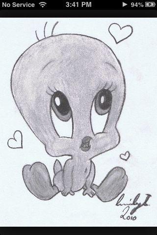 Tweety Bird Creative Pinterest Drawings Cute Drawings