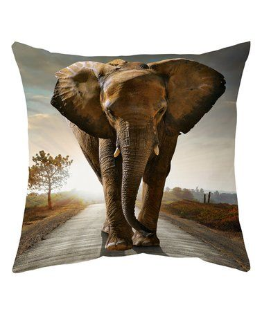 Loving this Massive Elephant Throw Pillow Cover on #zulily! #zulilyfinds