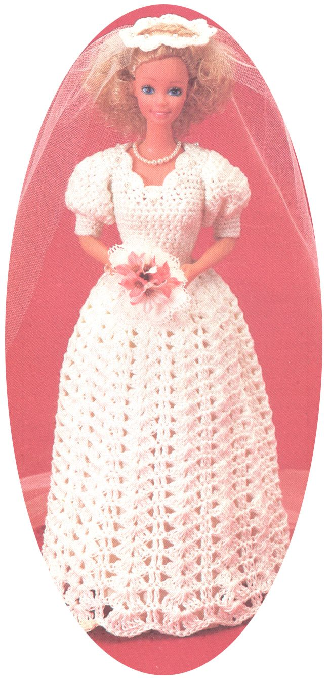 Vintage barbie wedding dress crochet pattern knitting and vintage barbie wedding dress crochet pattern bankloansurffo Images