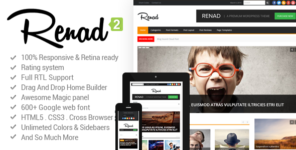News Renad News Magazine Newspaper By Bdaia Latest Version Is Available Now V2 2 1 A 2025 July 1 Magazine Theme Wordpress News Magazines Advanced Typography