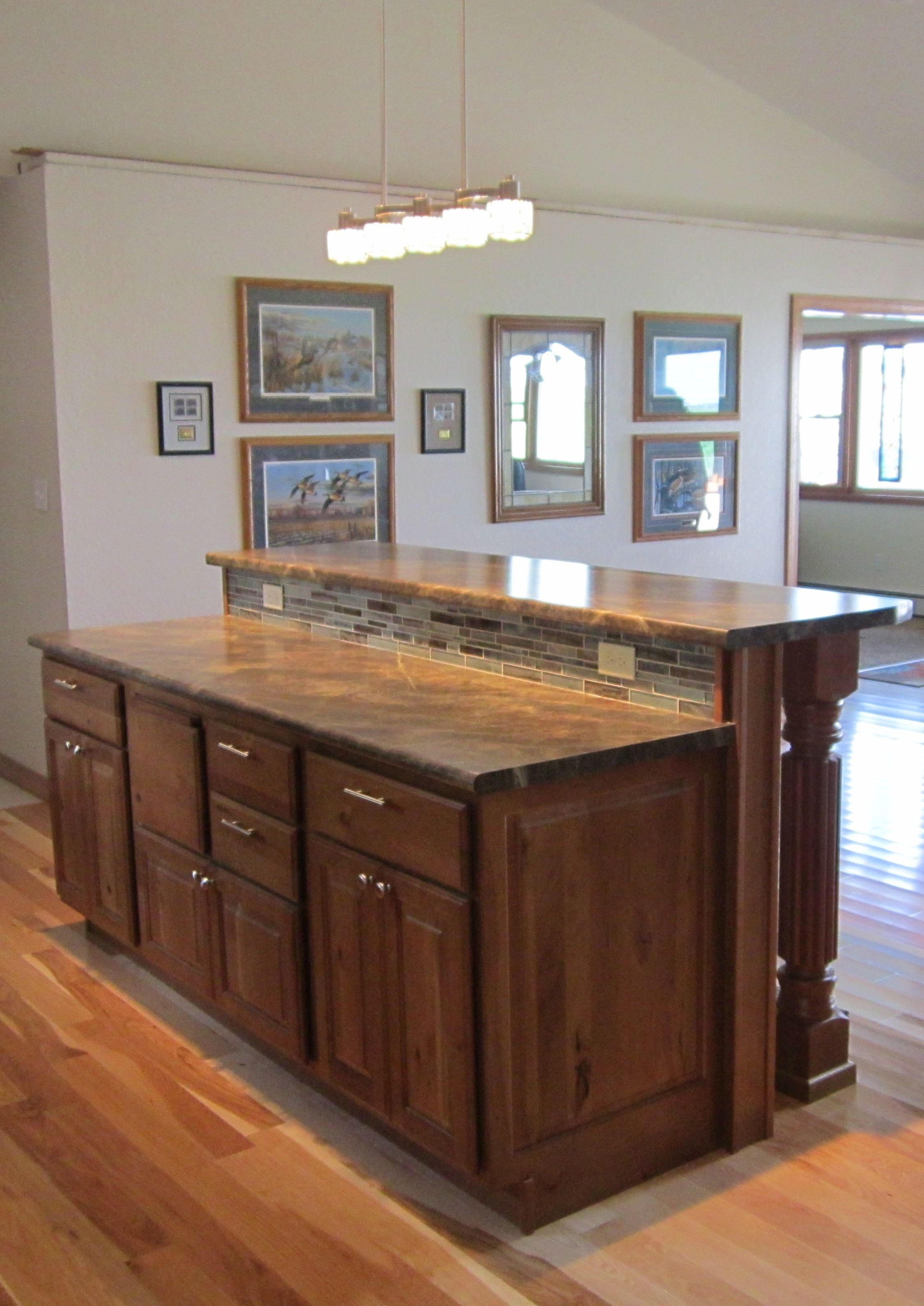 Cherry Cabinets In Kitchen Karman Brand Rustic Cherry Cabinets Harvest Doorstyle With
