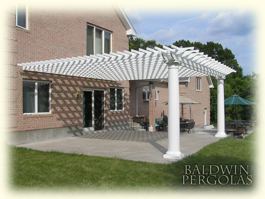 Design Craft Millworks 10 Ft X 20 Ft Diy Western Red Cedar Pergola In Vineyard 61020 The Home Depot Wood Pergola Cedar Pergola Wood Pergola Kits