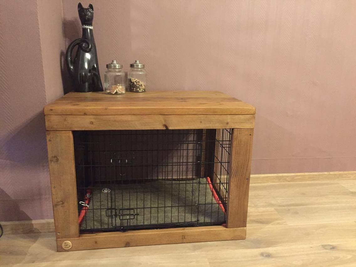 Hedendaags Hondenbench ombouw van steigerhout over uw draadkooi? | PET DIY TW-65