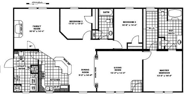 Clayton Homes Floor plan for double wide