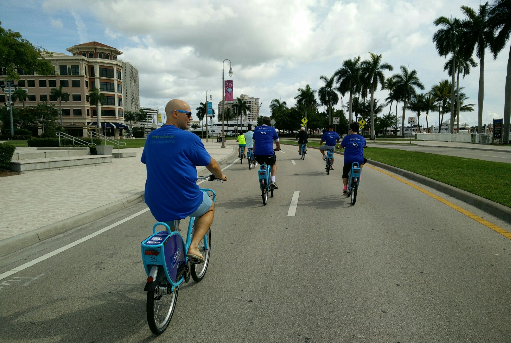 First @skybikewpb rides down the waterfront!