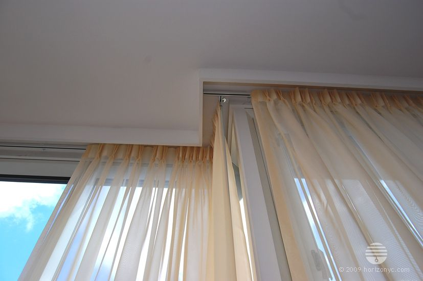 View Of Recessed Curtain Rail Curtains Window Treatments