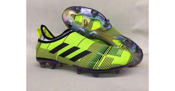 cd895aab8f5ab Outlet Botas De Futbol Adidas Glitch Skin 17 FG Amarillo Negro