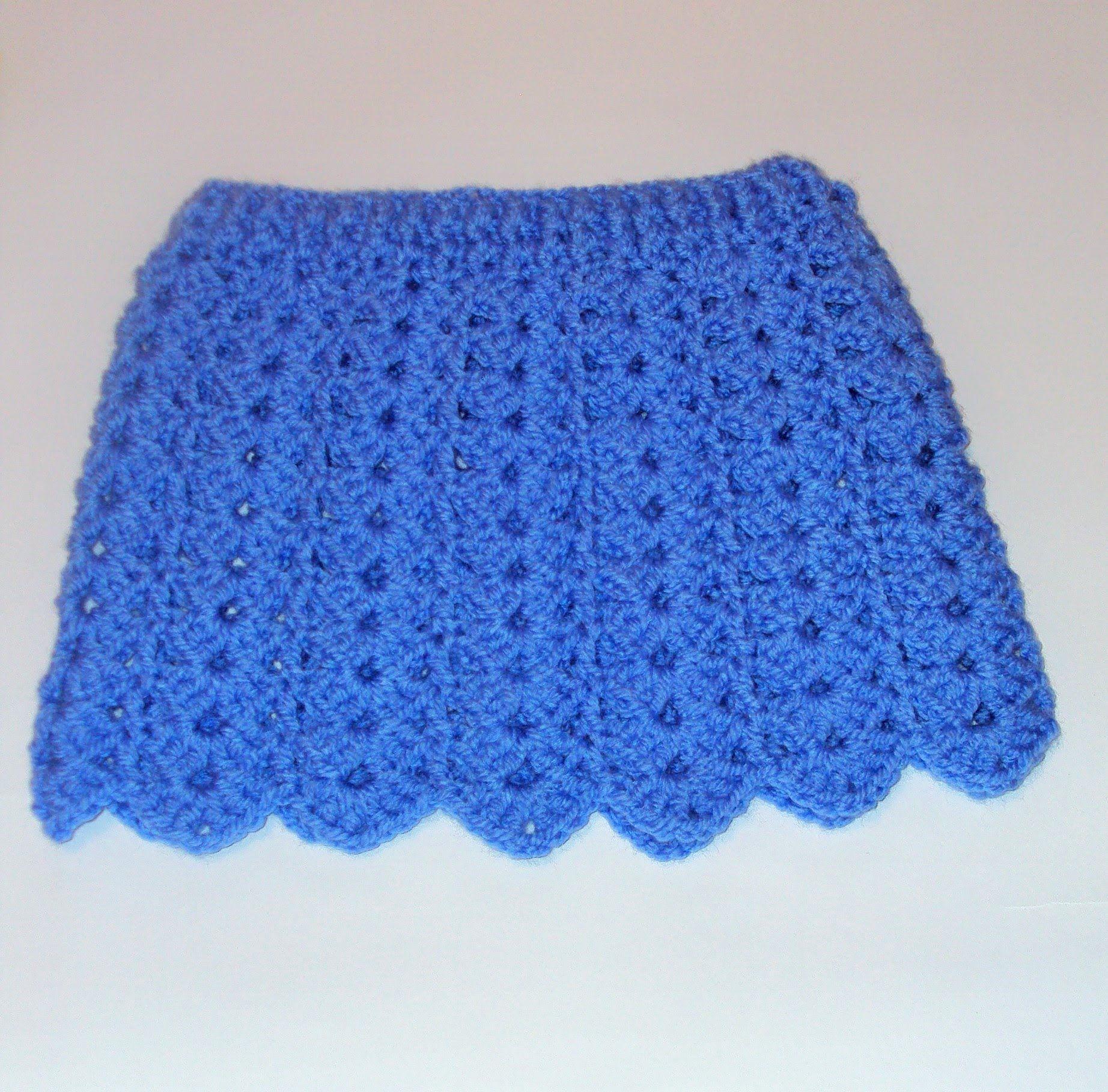 Tutorial falda bebé fácil crochet punto fantasía calado y muestra ...