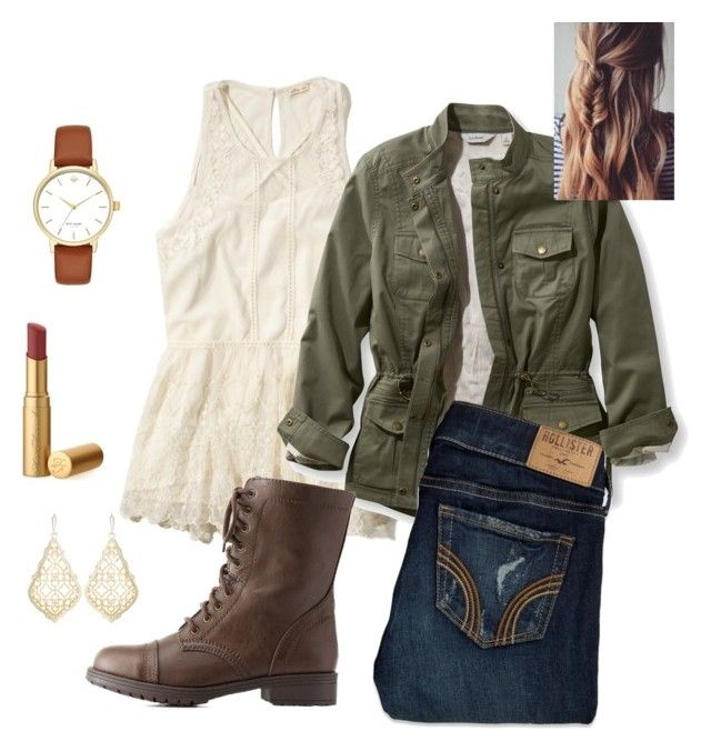 """Untitled #213"" by tessperdue ❤ liked on Polyvore featuring Hollister Co., L.L.Bean, Charlotte Russe, Kendra Scott, Too Faced Cosmetics, Kate Spade and plus size clothing"
