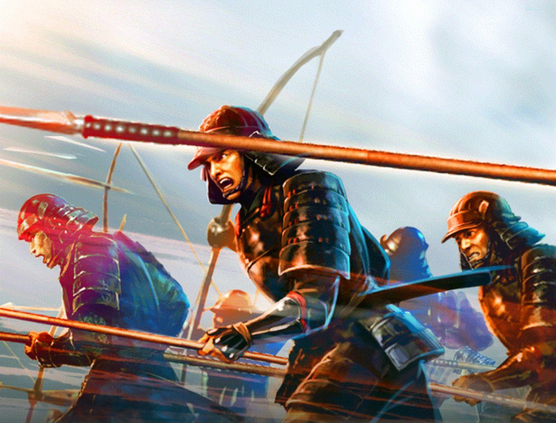 Charge of the Japanese Yari Samurai | Samurai warrior ...