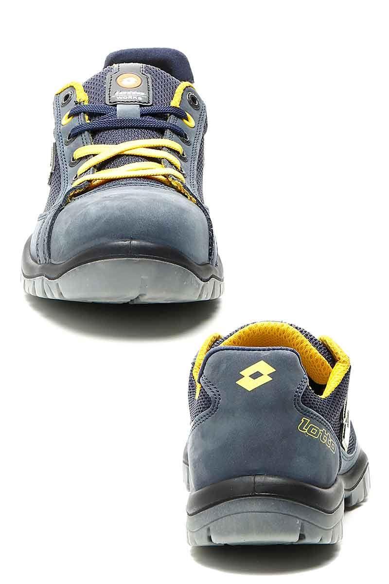 El Calzado De Seguridad Lotto Works Es De Color Azul Con Detalles En Amarillo Destaca Por Su Comodidad Y Por Zapatos De Seguridad Calzado De Seguridad Calzas