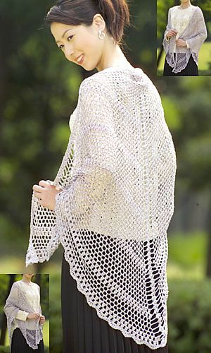 24-25-21 Shawl pattern by Pierrot (Gosyo Co., Ltd)   Tuch-Schal ...