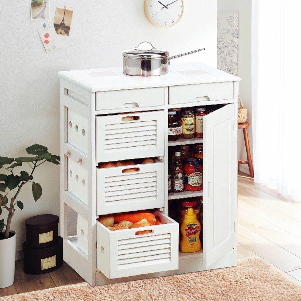 Hogar yat madera sencillo y moderno aparador gabinete de cocina vegetal condimento gabinete - Auxiliar cocina ...