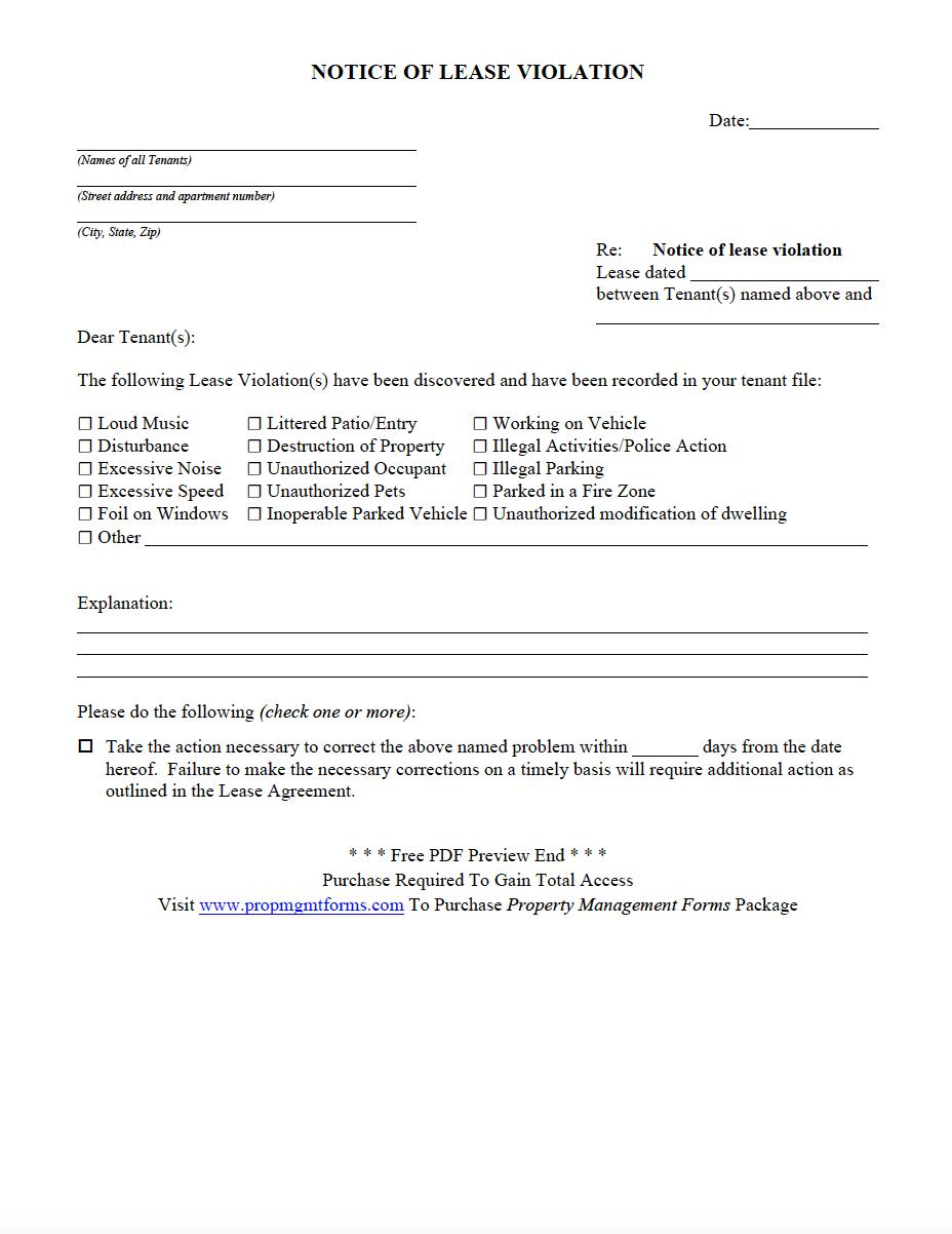 notice of violation template - Monza berglauf-verband com