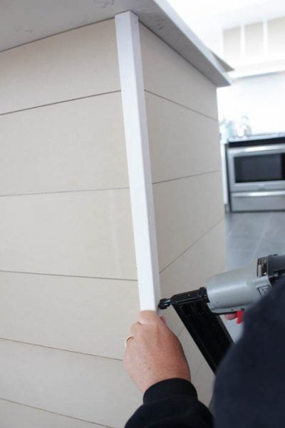 Use A Piece Of Corner Trim To Hide Plank Ends On A Kitchen