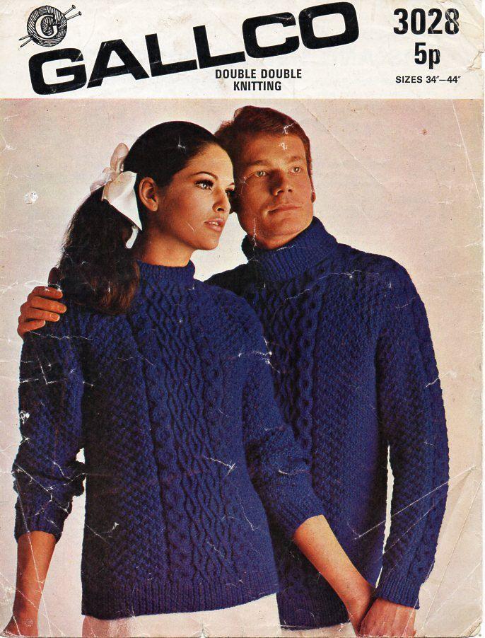 womens / mens aran sweater knitting pattern PDF chunky ladies aran ...