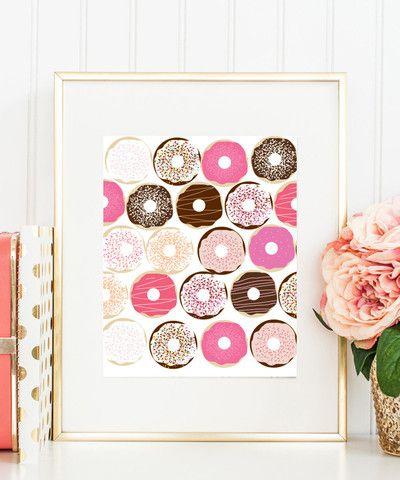 Donuts – Fun kitchen art.