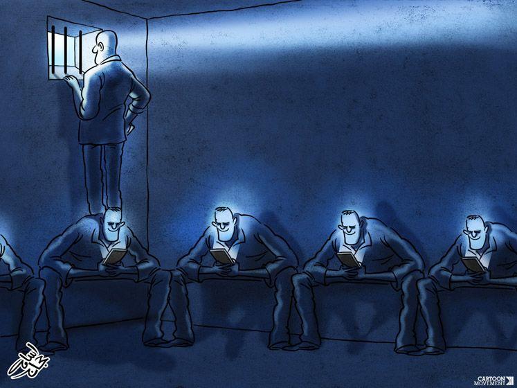 Different vision. Today's cartoon by Osama Hajjaj: https://www.cartoonmovement.com/cartoon/40335