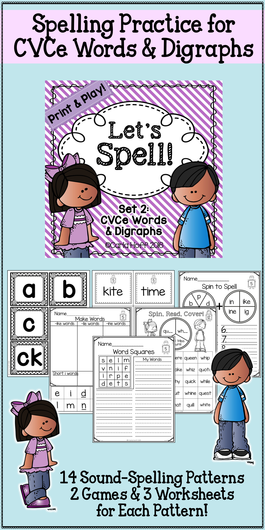 Spelling Worksheets And Games Long Vowels Cvce And