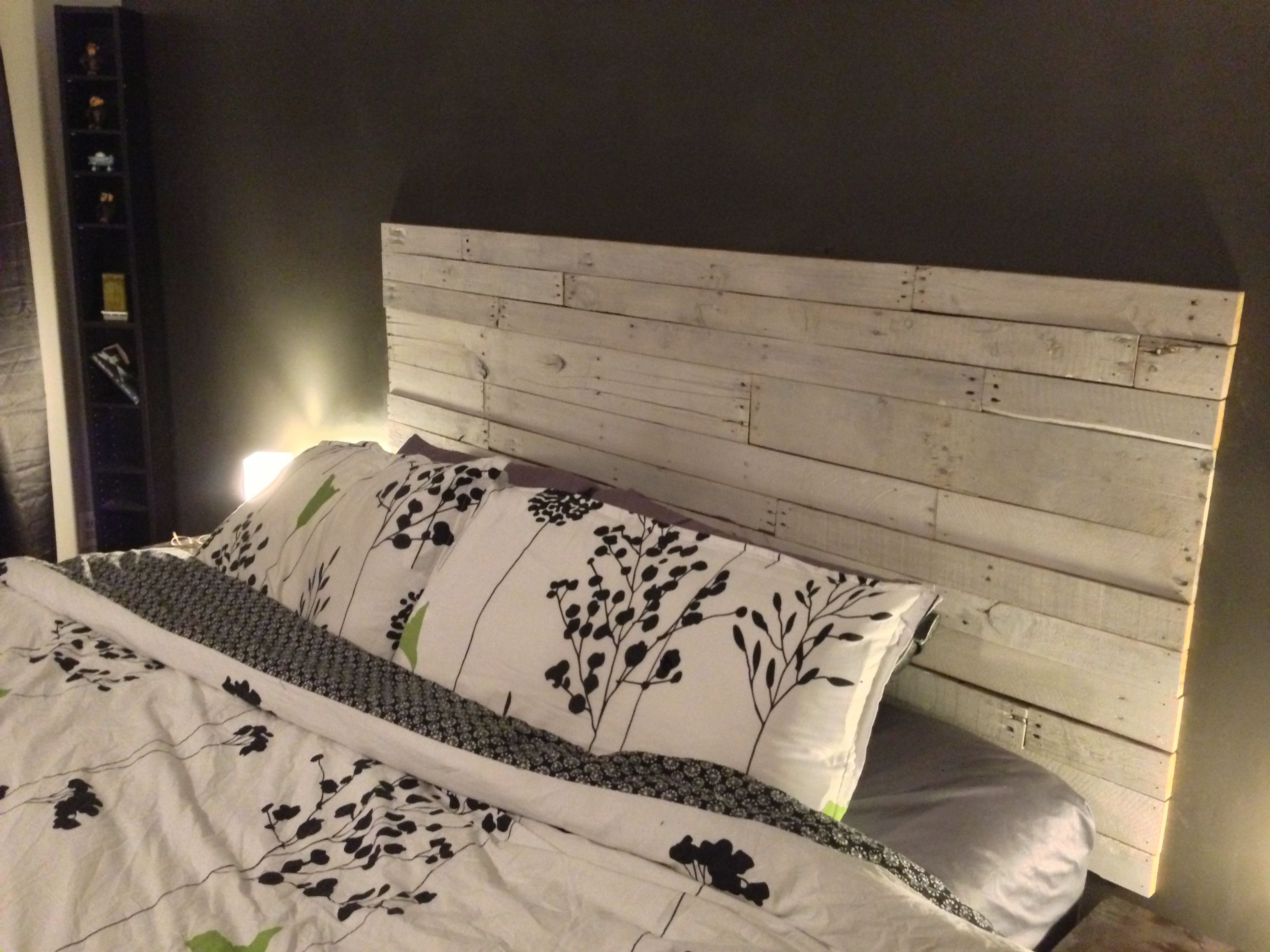 Diy made palette headboard pulled palettes of different